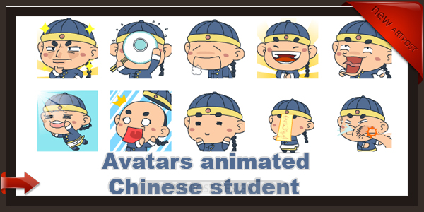 Avatars animated Chinese student