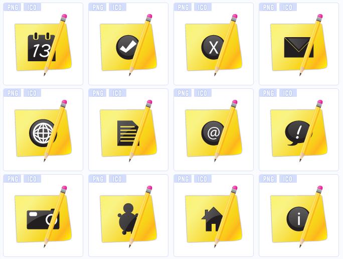 желтые иконки:
