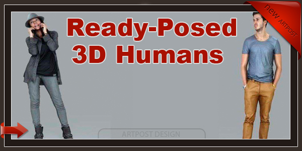 Ready-Posed 3D Humans