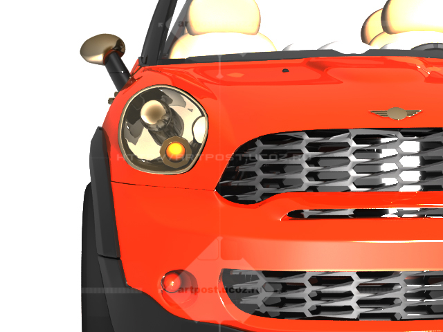 Mini Cooper Countryman 3D модель 3D max \ Vray