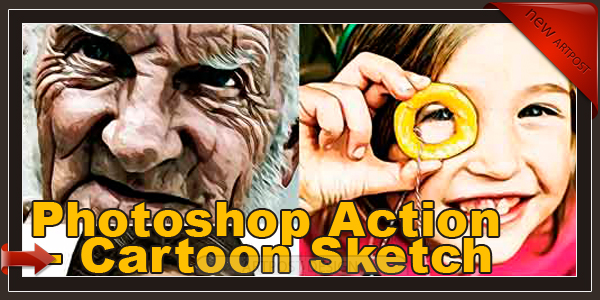Photoshop Action - Cartoon Sketch V6