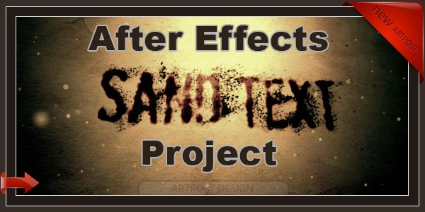 VideoHive After Effects Project Sand text