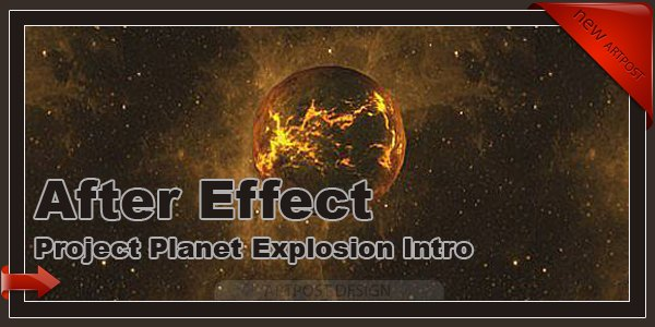 After Effect Project Planet Explosion Intro