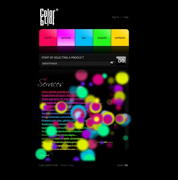 Flash Site Template # 27 000
