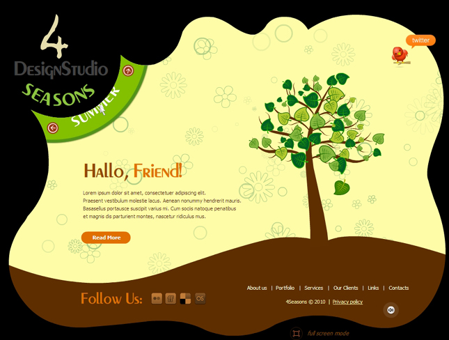 Flash Site Template # 29 001